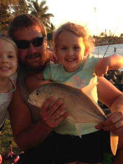 2yo asher 48cm trevally a little help from dad